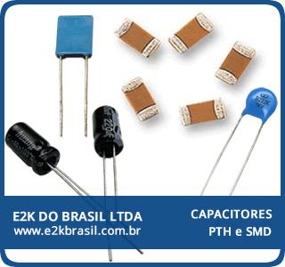 Capacitores PTH e SMD